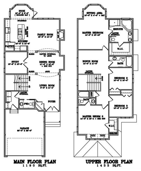 Klair Custom Homes: KCH 105 Floorplan