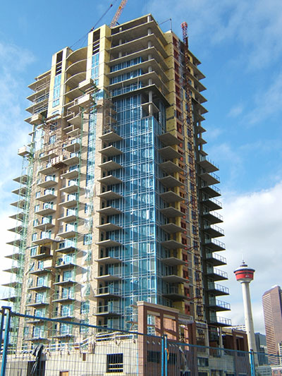 Calgary Condo Under Construction, Downtown Calgary