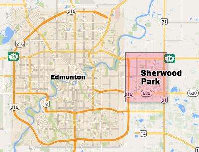 Sherwood Park Map Map Of Sherwood Park | compressportnederland